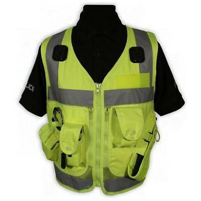 Protec High Vis Yellow Advanced Tactical Police Security and Dog Handler Vest