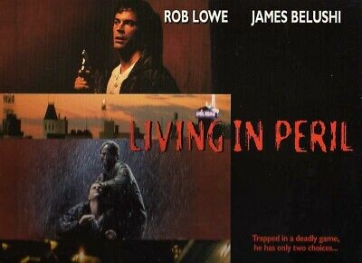 LIVING IN PERIL CC NTSC LASERDISC Rob Lowe, James Belushi and Dean Stockwell
