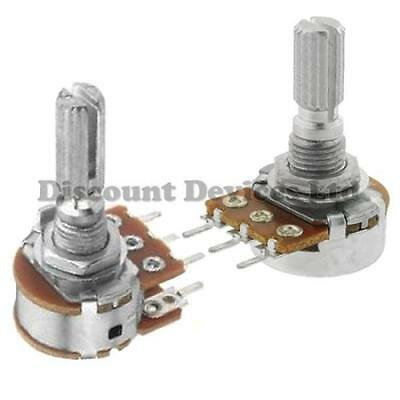1 5 10 20 50 100 500 K M ohm Linear Logarithmic Mono Stereo Pot Potentiometer st