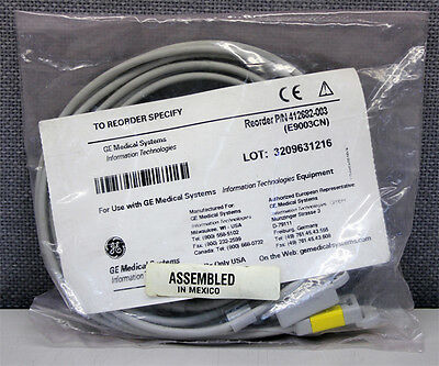 GE Medical Systems 412682-003 3-Wire Multi-Link ECG Leadwire Set (Lot of 5) New