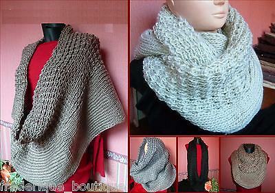 Tour de Cou Snood Col transformable en Bandeau ou Bonnet Polaire motif panthère