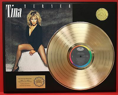 Tina Turner Private Dancer 24k Gold LP Record Display Free USA Priority Shipping