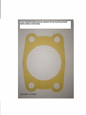Nissan BD3004 Injection Pump Gasket Hitachi EX60 EX75 EX80 Takeuchi TB070