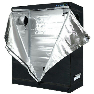 "Quictent 48""x24""x60"" Reflective Mylar Hydroponic Grow Tent with Waterproof Tray"
