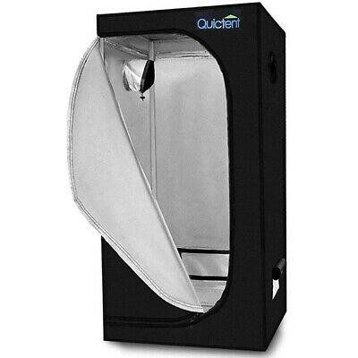 "Quictent 32""x32""x63"" Reflective Mylar Hydroponic Grow Tent with Waterproof Tray"