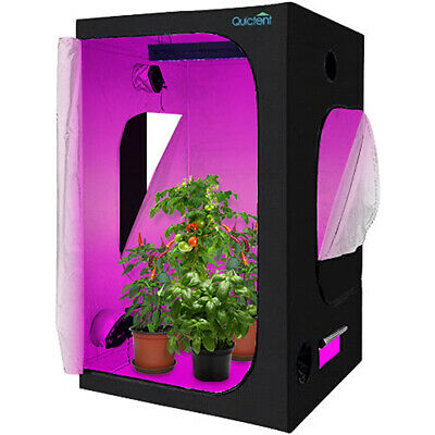 "Quictent 48""x48""x78"" Reflective Mylar Hydroponic Grow Tent with Waterproof Tray"