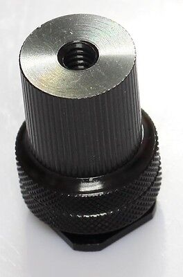 "new 1/4""-20 Tripod Mount Screw male and female to Flash Camera Hot Shoe Adapter"
