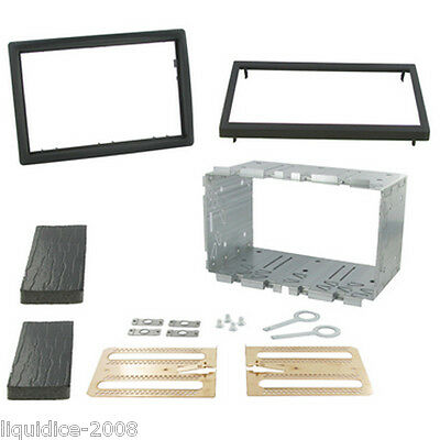 CT23RT03 RENAULT MEGANE II 2003 to 2010 BLACK DOUBLE DIN FASCIA ADAPTER KIT