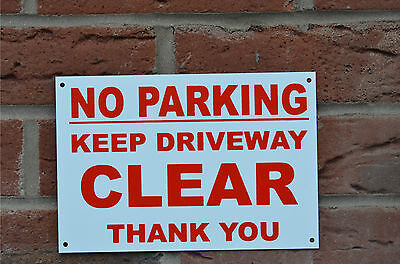 No Parking Keep Driveway Clear Thank You A5 Plastic Or Metal Sign Or Sticker