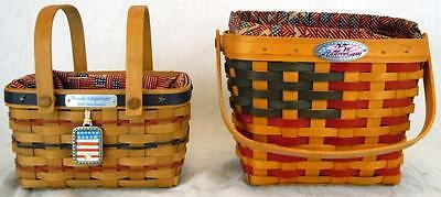 Lot of 2 Longaberger Baskets: Bee & 25th Anniversary