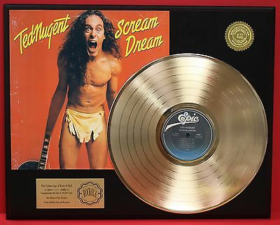 Ted Nugent 24k Gold LP Record Award Display Free Shipping Limited Edition Gift