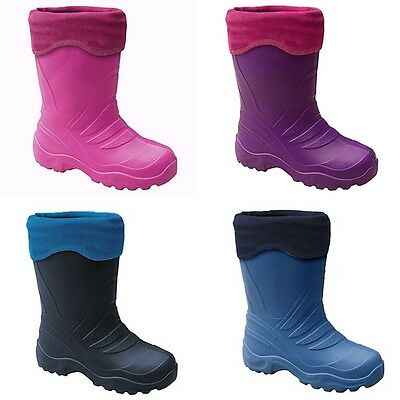KIDS BOYS & GIRLS WELLINGTON BOOTS WELLIES /WINTER BOOTS UK size 5-2.5 /EU 22-35