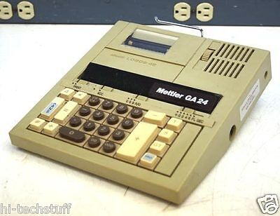 Mettler Toledo GA24 Calculator Printer / Olivetti Logos