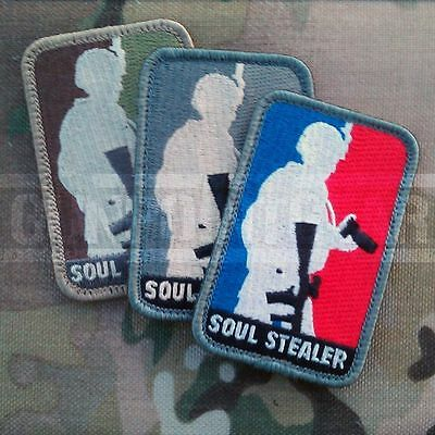 Mil-Spec Monkey Velcro Morale Patch Soul Stealer Photographer Multicam MTP UK