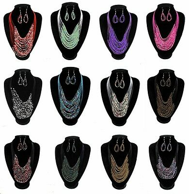Wholesale & Job Lots 4 Necklace & Earrings Sets With 12 Colours Variations
