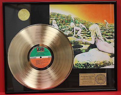 Led Zeppelin Custom Framed Premium Gold Award Quality Record Display