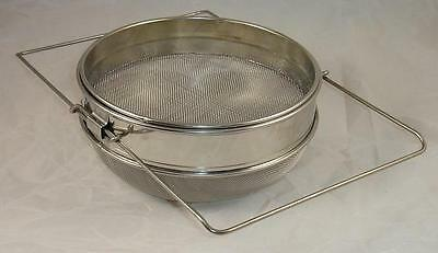 Stainless Steel Sliding Double Honey Strainer - Beekeeping - Honey Extraction