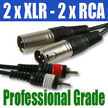 DUAL 1.5M | 2 x XLR MALE PLUG to 2 x RCA PHONO | 263