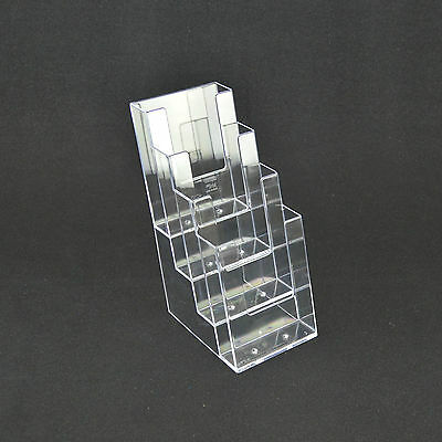 1/3rd A4 DL (100mm W x 210mm H) 4 Tier Leaflet Holder Display Stand BPS4C110 x 2