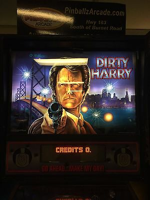DIRTY HARRY Pinball Machine - Williams 1995 - Great for Any Home Arcade!