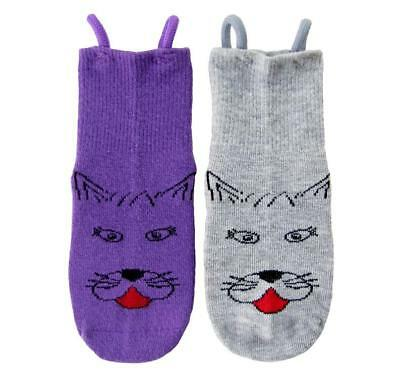 Kitty Cat Socks - 2 Pairs, Age 2 - 3 Years by EZ SOX