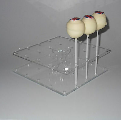 Cake Pop Stand - Square Shaped - Holds 24 Cake Pops / Lollipops – BPS0082