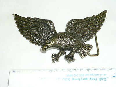 Vintage Beautiful Solid Brass Eagle  Hand Made Belt Buckle