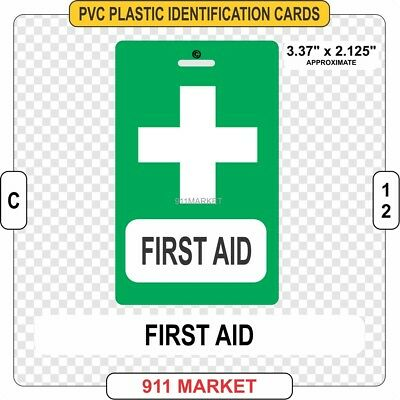 First Aid PVC ID Card 1st Work Health & and Safety Identification Responder  C12