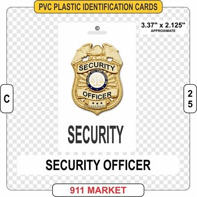 Security Officer PVC ID Card Identification Private Investigator Guard SG - C 25