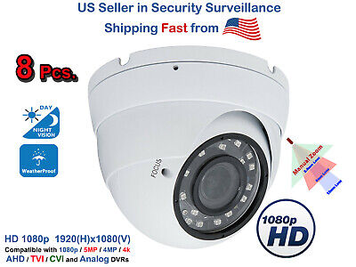 8x HD Indoor Outdoor Day Night Vision Home CCTV Security Camera