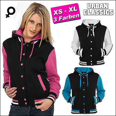 Urban Classics Damen Hooded College Sweat Jacke Kapuzenjacke Slim Fit Xs -  Xl 1655f957f9