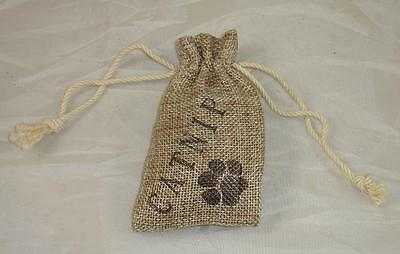 Catnip Sachet - Pure Dried Catnip - In Jute Drawstring Bag