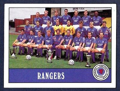 PANINI FOOTBALL 90 Voetbal Verzamelkaarten: sport #451-RANGERS TEAM PHOTO-THE GERS