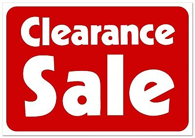 Clearance Sale  Retail Store Sale Business Discount Promotion Message signs