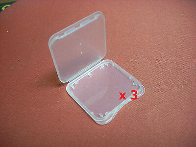 3 x Memory Card Holder Case for Standard SDHC TF SD Card/Adapter & Micro SD CARD