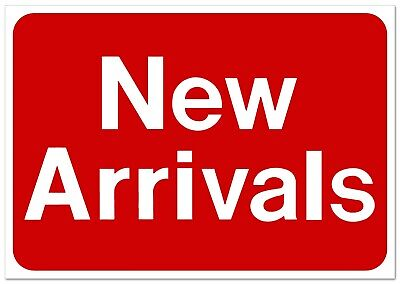 NEW ARRIVALS Retail Store Sale Business Discount Promotion Message signs