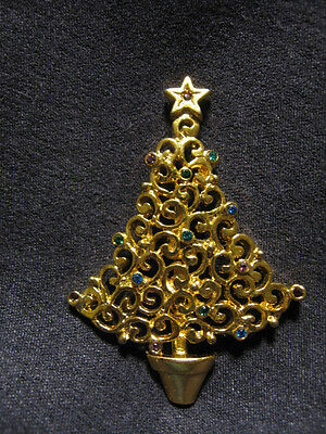 USA christmas tree pin brooch J25