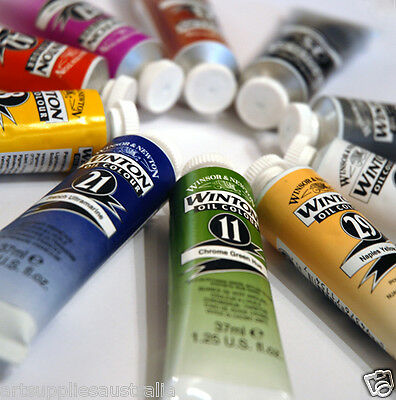 Winsor & Newton Winton Oil 37ml x10 tubes colour choice