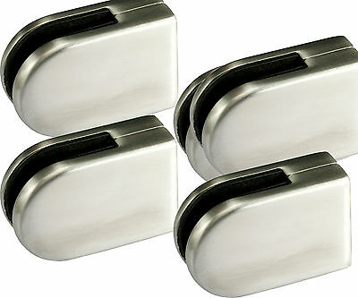 4pcs STAINLESS STEEL WINDOW GLASS BRACKET CLAMP CLIPS 10-12mm
