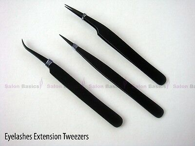 Tweezers Eyelashes Extension Set / Nail Art / Stone Crystal Plucking Beauty Kit