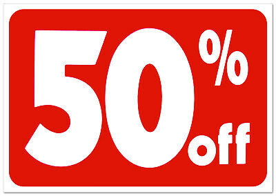 50% off retail store sale Business Discount Promotion Message signs