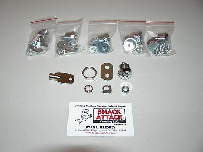 VENDSTAR 3000 #0194 (5) BACK DOOR LOCKS & (1) KEY New / Free Ship!