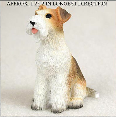 Wirehair Fox Terrier Mini Resin Hand Painted Collectible Dog Figurine