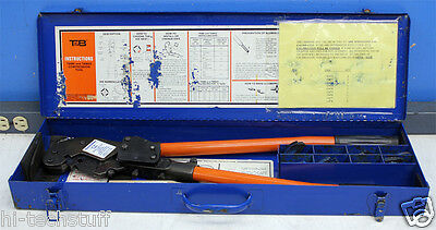 Thomas & Betts TBM6S Shure-Stake Compression Tool w/ Die Sets and Case