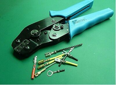 Crimping Tool 3.96/4.8/5.08/6.3mm Grounding Terminal Connector 26-16 AWG Crimper