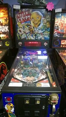"TALES FROM THE CRYPT Pinball Machine - Data East 1993 - ""So Fun it's SCARY!!"""