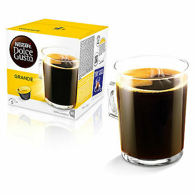 Dolce Gusto Cafe Crema Grande (3 Boxes,Total 48 Capsules ) 48 Servings