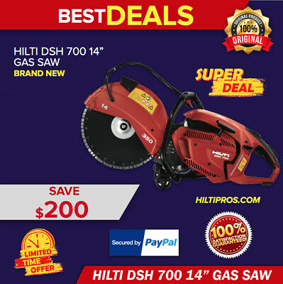 Hilti Gas Saw   Dsh700-14'' Hand Held Brand New Original Box With One Blade