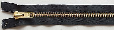 #10 Solid Brass Heavy-Duty Chaps Separating Metal Zippers by YKK ® Brand - Black