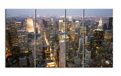 NEW YORK TOWERS Leinwand 4 BILDER WANDBILD D00761 MEGA XXL LIVING PICTURE